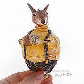 Для дома и интерьера handmade. Livemaster - original item Interior Squirrel toy, souvenir, figurine. papier-mache.. Handmade.