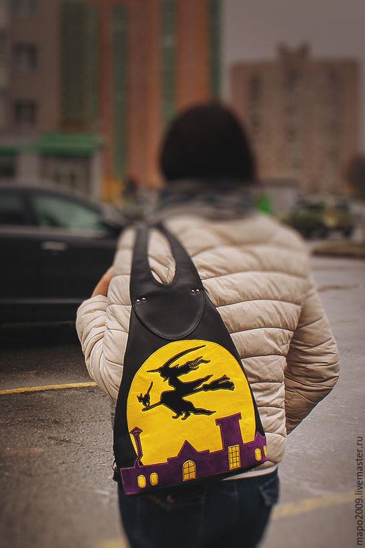 Рюкзаки ручной работы. Ярмарка Мастеров - ручная работа. Купить Кожаный рюкзак Ведьма. Handmade. Черный, рюкзак для девушки