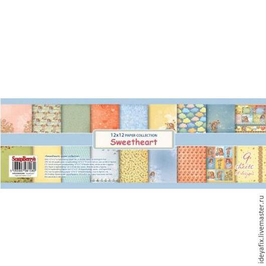 В набор входит 9 листов двусторонней бумаги с дизайнами коллекции, в том числе 2 листа с карточками.   Размер: 30,5х30,5 см. Плотность: 190 гр/м Коллекция: Мальчик и девочка (Sweetheart). Бренд: Scrap