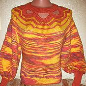 """Одежда ручной работы. Ярмарка Мастеров - ручная работа Джемпер """"оранжевое солнце"""". Handmade."""