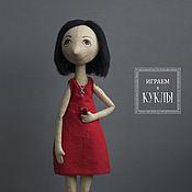 Куклы и игрушки ручной работы. Ярмарка Мастеров - ручная работа Lady in red. Handmade.