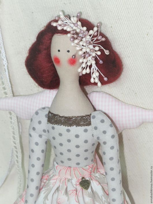 игрушки Башкировой Анны, Цветочный ангел, тильда, тильда фея, кукла ручной работы