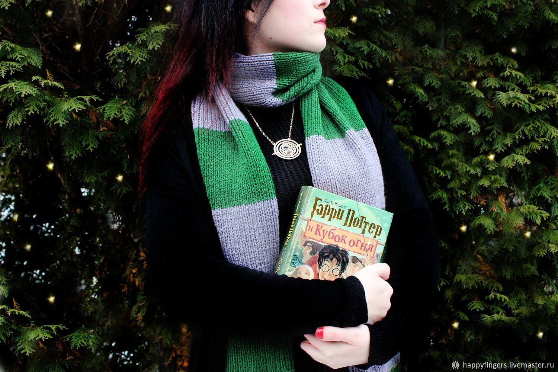 Harry Potter Slytherin scarf knitted scarf Draco Malfoy, Scarves, Elektrostal,  Фото №1