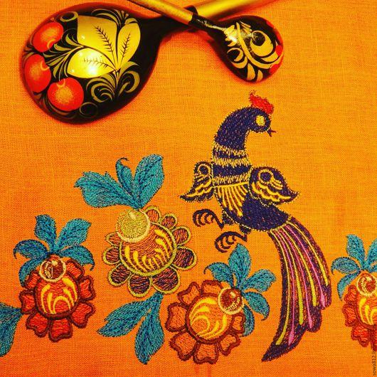 Текстиль, ковры ручной работы. Ярмарка Мастеров - ручная работа. Купить Кухонные льняные полотенца с машинной «народные мотивы» в ассортименте. Handmade.