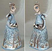 """Для дома и интерьера ручной работы. Ярмарка Мастеров - ручная работа """"Зимний Ангел"""" статуэтка-колокольчик. Handmade."""
