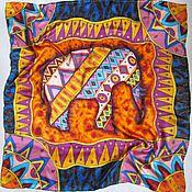 """Аксессуары ручной работы. Ярмарка Мастеров - ручная работа Батик платок """"Слон"""", коллекция """"Африка"""". Handmade."""