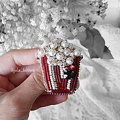 """Украшения ручной работы. Ярмарка Мастеров - ручная работа Брошь из бисера """"Попкорн"""". Handmade."""