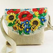 Сумки и аксессуары handmade. Livemaster - original item Bag with embroidery Bag textile Summer canvas bag. Handmade.
