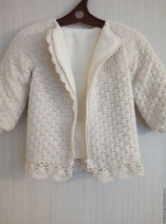 Одежда для девочек, ручной работы. Ярмарка Мастеров - ручная работа. Купить Теплая кофта на флисе 2. Handmade. Белый