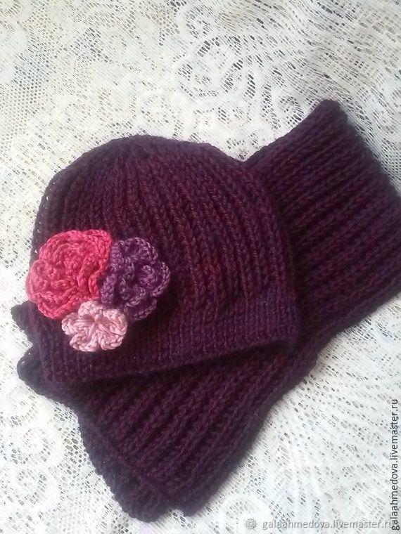 Set accessories-free hat and scarf 'Xenia', Headwear Sets, Dmitrov,  Фото №1