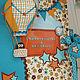 Подарки для новорожденных, ручной работы. Интерьерная игрушка: текстильный воздушный шар.. Серафима Артамонова. Интернет-магазин Ярмарка Мастеров. Оранжевый