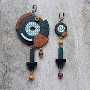 Украшения handmade. Livemaster - original item Asymmetric space earrings. Handmade.