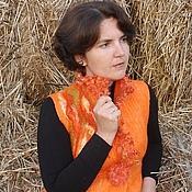 """Одежда ручной работы. Ярмарка Мастеров - ручная работа Валяный жилет """"Оранжевая осень"""". Handmade."""
