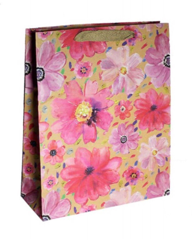 """Пакет подарочный """"цветы"""" 26x10x32см микс, Пакеты, Москва,  Фото №1"""