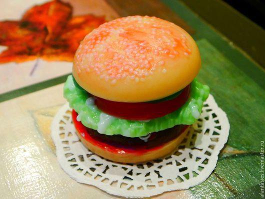 """Мыло ручной работы. Ярмарка Мастеров - ручная работа. Купить Мыло ручной работы """"Гамбургер"""". Handmade. Мыло ручной работы"""