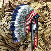 Одежда ручной работы. Ярмарка Мастеров - ручная работа Индейский головной убор - Душа Воина. Handmade.