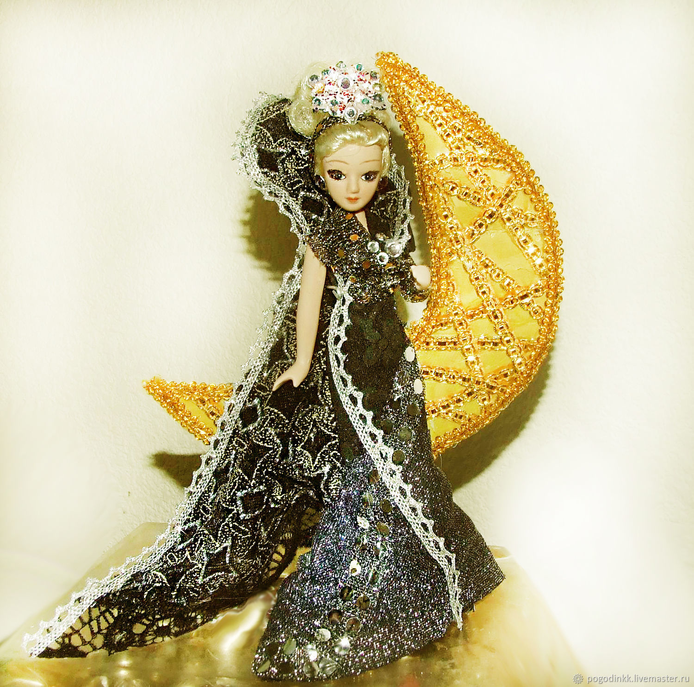 Царица Ночи - фарфоровая интерьерная кукла, Куклы, Чебоксары, Фото №1