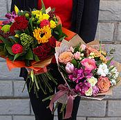 Цветы и флористика ручной работы. Ярмарка Мастеров - ручная работа Европейский букет из живых цветов. Handmade.