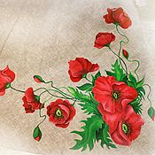 """Одежда ручной работы. Ярмарка Мастеров - ручная работа Роспись на сарафане """"Маки"""". Handmade."""