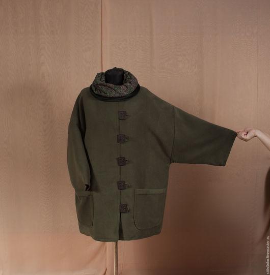 Большие размеры ручной работы. Ярмарка Мастеров - ручная работа. Купить Пальто зимнее болото. Handmade. Хаки