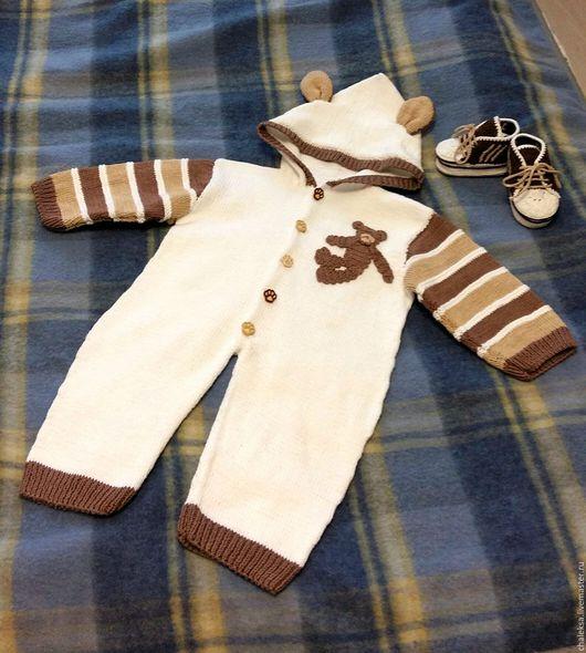 Одежда для мальчиков, ручной работы. Ярмарка Мастеров - ручная работа. Купить Комплект для малыша. Handmade. Белый, пинетки для новорожденных