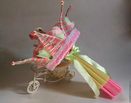 Букеты ручной работы. Ярмарка Мастеров - ручная работа. Купить Букет корона для принцессы. Handmade. Розовый, кружево, подарок, мишка