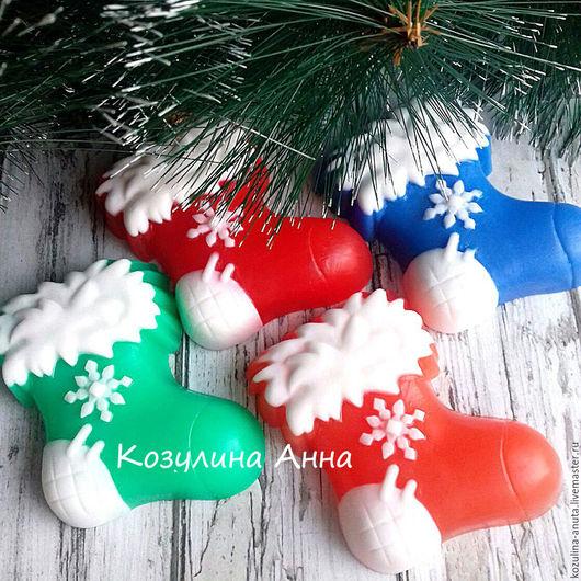 мыло сапожок,сапожок новогодний,рождественский сапожок,мыло новогоднее,мыло на новый год,новогодний подарок,подарок под елку