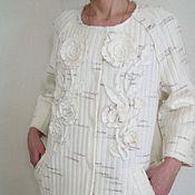 Одежда ручной работы. Ярмарка Мастеров - ручная работа Пальто из трикотажа.. Handmade.