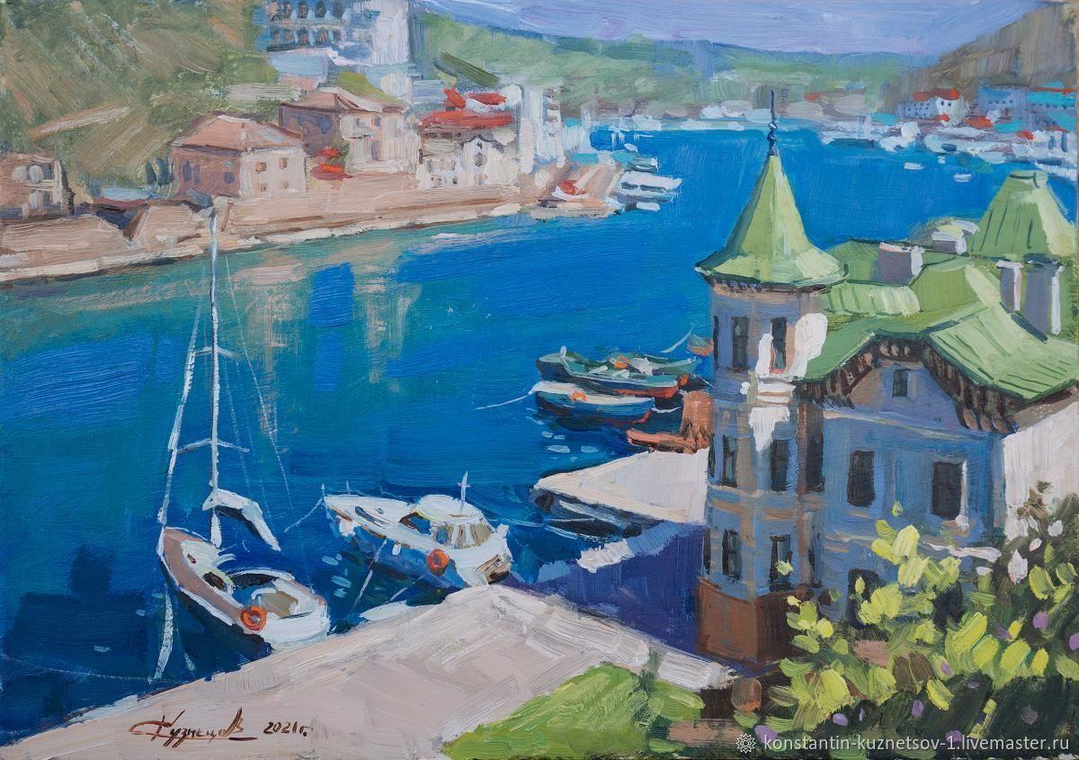 Картина Балаклава – заказать на Ярмарке Мастеров – O4FPYRU | Картины, Севастополь