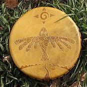 Музыкальные инструменты handmade. Livemaster - original item The bird of happiness.Drum leather. 25 cm. Handmade.