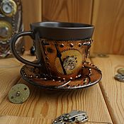 Сувениры и подарки handmade. Livemaster - original item Mug in the style of steampunk (steampunk)2. Handmade.