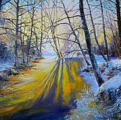 Картины и панно handmade. Livemaster - original item 25 oil Painting landscape of dawn. Handmade.