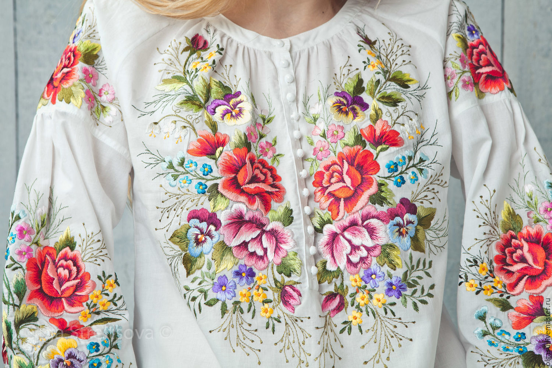 Вышивка на блузках 476
