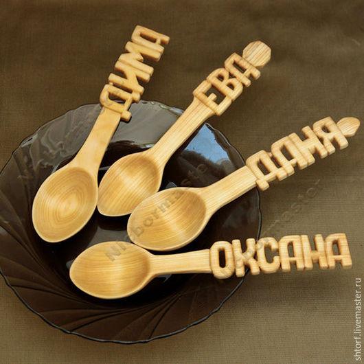 Ложки ручной работы. Ярмарка Мастеров - ручная работа. Купить Деревянная ложка. Handmade. Оранжевый, ложка деревянная