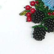 Украшения ручной работы. Ярмарка Мастеров - ручная работа Заколка  из бисера с ягодками и колокольчиками. Handmade.
