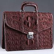 Сумки и аксессуары handmade. Livemaster - original item Crocodile leather briefcase, inner filling-IMA0562K1 leather. Handmade.