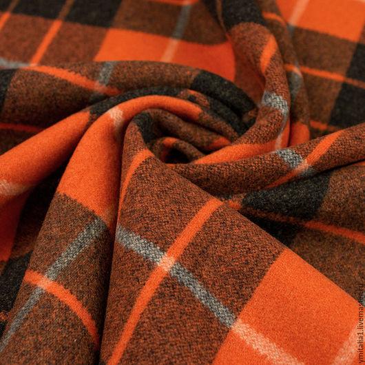 Шитье ручной работы. Ярмарка Мастеров - ручная работа. Купить Шерсть пальтовая с кашемиром  в клетку VIVIENNE WESTWOOD. Handmade.