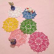 Салфетки ручной работы. Ярмарка Мастеров - ручная работа набор маленьких салфеточек-подставочек. Handmade.