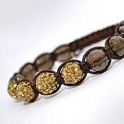 Украшения handmade. Livemaster - original item Shamballa bracelet with Topaz. Handmade.