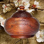 Для дома и интерьера handmade. Livemaster - original item a jug with a textured lid and a pine barrel k25. Handmade.
