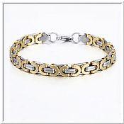 Украшения handmade. Livemaster - original item Men`s steel bracelet no. 22 stainless steel 316L. Handmade.