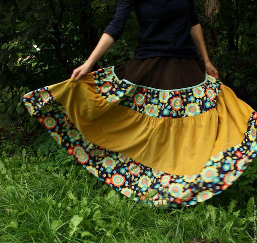 """Юбки ручной работы. Ярмарка Мастеров - ручная работа. Купить -10% Вельветовая юбка """"Хорошее настроение"""". Handmade. Юбка"""