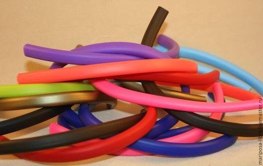 Для украшений ручной работы. Ярмарка Мастеров - ручная работа. Купить Шнур 10х7 силиконовый, цвет микс. Handmade. Разноцветный