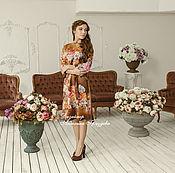 "Одежда handmade. Livemaster - original item ""Noble Rose! Silk dress, hand-painted. Handmade."