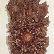 "Для дома и интерьера handmade. Livemaster - original item ""Two capercaillie""wall clock.. Handmade."