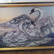 Картины и панно ручной работы. Ярмарка Мастеров - ручная работа Лебединая верность. Handmade.