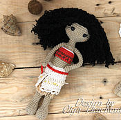 """Куклы и игрушки handmade. Livemaster - original item Вязаная куколка принцесса """"Моана"""" ручной работы. Handmade."""
