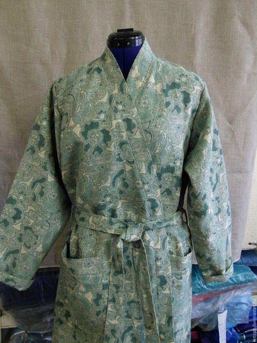 Халаты ручной работы. Ярмарка Мастеров - ручная работа. Купить Льняной халат женский. Handmade. Льняной халат, халат для бани