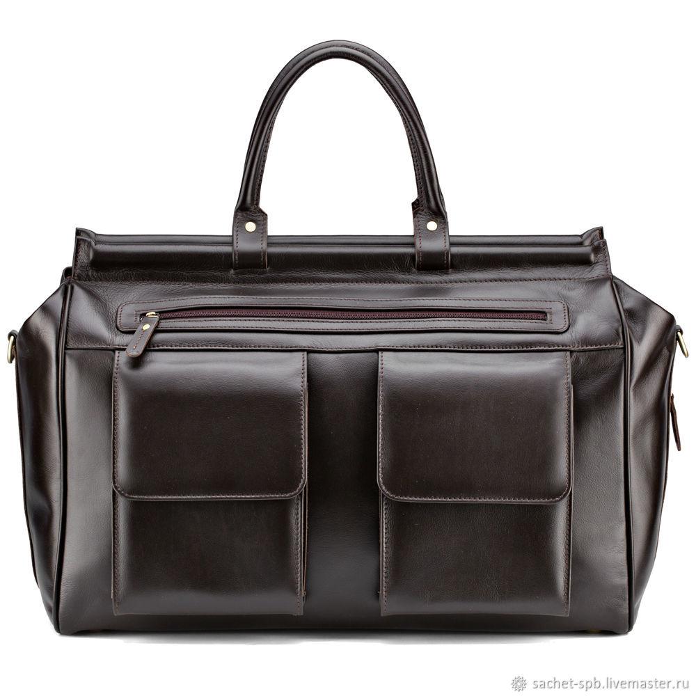 4075c5e21830 Мужские сумки ручной работы. Ярмарка Мастеров - ручная работа. Купить  Кожаный дорожный саквояж