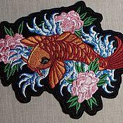 """Аппликации ручной работы. Ярмарка Мастеров - ручная работа Нашивка """"Рыбка Кои"""". Handmade."""